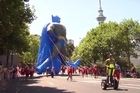 Thousands flocked to the centre of Auckland for the annual Santa Parade (Archive 2013)