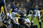 Chris Cusiter of Scotland kicks down field during the Scotland v Australia Autumn International Series Match. Photo / Getty Images