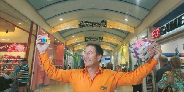 HAPPY: Bayfair Shopping Centre manager Steve Ellingford is anticipating improved Christmas trading after a good start to the shopping season.