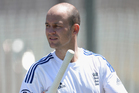 Jonathan Trott, who has been such a rock for England in the past, clearly wasn't himself in the first test being dismissed for 10 and 9. Photo / Getty Images