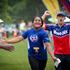 A young girl completing the Sanitarium Weet-Bix Kids TRYathlon at Mountford Park in Manurewa. Photo / Sarah Ivey