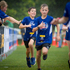 Kids coming in to the finish line of the Sanitarium Weet-Bix Kids TRYathlon at Mountford Park in Manurewa. Photo / Sarah Ivey