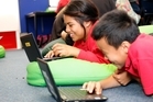 Pt England Primary School students embracing the new Digital Academy. Photo / Chris Gorman