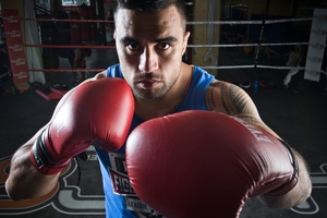 Liam Messam will take on Australian rugby league star Paul Gallen in next weekend's Fight for Life. Photo / Greg Bowker