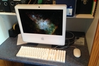 Four silver IMac computers - similar to this one - were stolen from St Matthews School in Marton.  PHOTO/SUPPLIED