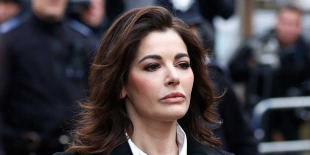 Nigella Lawson spent a day giving evidence in the trial of two former aides accused of credit card fraud. Photo / AP