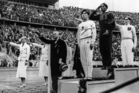 Jesse Owens' gold medal haul, which included victory in the long jump, was a blow to Adolf Hitler and his Nazis who orchestrated the Olympics  of 1936. Photo / AP