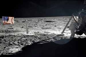 Neil Armstrong walks on the moon - or is it Nevada?