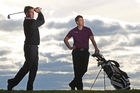 Mark Brown, left, is hot favourite to win Thursday's Coombes-Johnston BMW Pro-Am at Mount Maunganui. Photo/File.