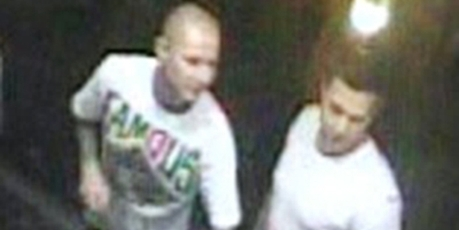 North Shore police released CCTV pictures of the two men they believe may have been involved in the serious assault  on Matt Cronshaw over the T-shirt he was wearing.