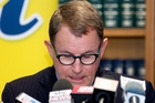 John Banks announces yesterday that he will not stand again for Parliament. Photo / Mark Mitchell