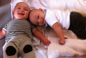 Twin boys Taane Diamond and Barry Kowhai.