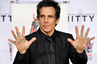Actor Ben Stiller at his Hand & Footprint Ceremony at TCL Chinese Theatre in Hollywood. Photo / AP