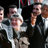 Nelson Mandela, right, and Palestinian leader Yasser Arafat gesture during a meeting in Cape Town, South Africa, August 11, 1998. File photo / AP