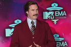 Actor Will Ferrell surprised viewers by hosting a real life news bulletin in Bismarck. Photo / AP