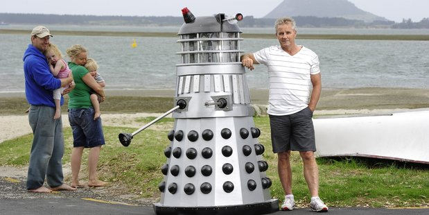 Omokoroa man Dave Logan has built his own dalek.