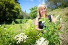 Weleda's Adele Frewin in Weleda's Hawkes Bay biodynamic gardens.  Photo / Warren Buckland
