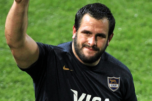 Juan Figallo is a classic Pumas prop who'll only get better. Photo / Getty Images