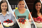 School students Jada Mandery, Nia Cherrington and Claudia Frew have shown their skills in the kitchen. Photo / Ari Blair