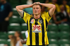 Ben Sigmund of the Phoenix looks on after Adrian Zahra of the Glory scored a goal during the round nine A-League match between Perth Glory and the Wellington Phoenix. Photo / Getty Images.