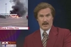 Will Ferrell dropped by a North Dakota news station. He did an entire newscast in character as Anchorman 2's Ron Burgundy.