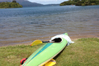 The kayak a father and daughter were using before they drowned on Lake Tarawera. Photo / Christine Cornege