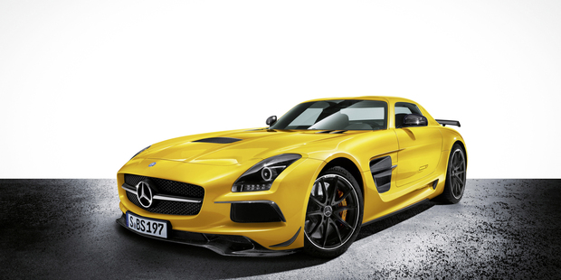 The Mercedes-Benz SLS AMG Coupé Black Series has just won sportscar of the year.