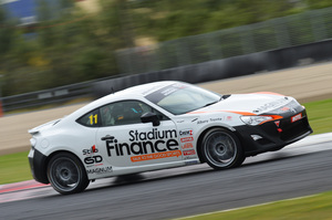 Tom Alexander leads the way in a Toyota GT86. Picture / Bruce Jenkins