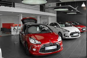 The DS area of the new Citroen dealership, at Greenlane, Auckland.