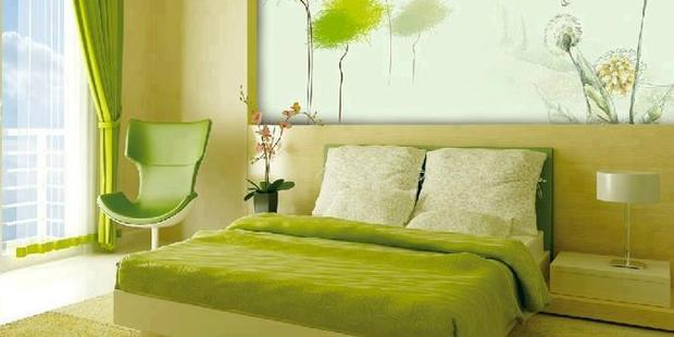 The wise use of props and accessories can bring the colour green into any environment.