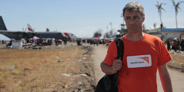 World Vision NZ CEO Chris Clarke in the devastated city of Tacloban in the Philippines.