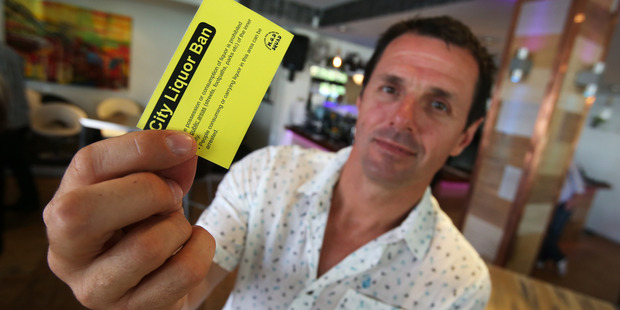 Clayton Mitchell will be giving a yellow card ban to irresponsible Xmas drinkers. Photo: Joel Ford