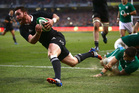 An injury-time try from Ryan Crotty was required to end the year unbeaten. Photo / Getty Images