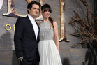 Orlando Bloom, left, and Evangeline Lilly at the premiere of 'The Hobbit: The Desolation of Smaug'. Photo / AP