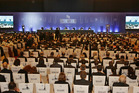 Delegates attend the opening day meeting of the 9th Ministerial Conference of the World Trade Organisation in Bali, Indonesia. Photo / AP