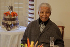Former South African President Nelson Mandela as he celebrates his 94th birthday in July 2012. Photo / file