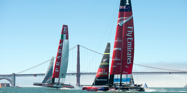 The Team NZ America's Cup boat may get to race on home waters. Photo / Chris Cameron
