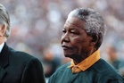 Nelson Mandela at the 1995 Rugby World Cup final.