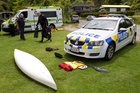 Police recovered the kayaking equipment used by the father and daughter who drowned at Lake Tarawera on Sunday.Photo/Stephen Parker.