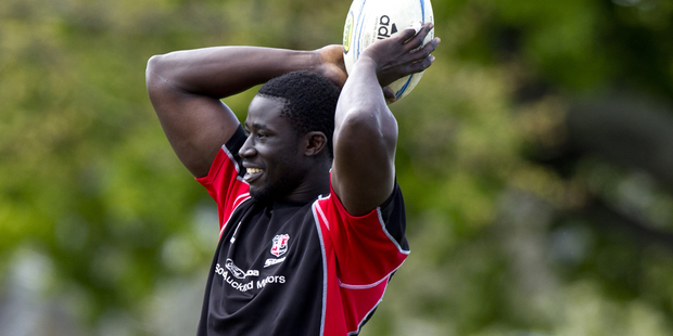 Daniel Adongo during a Counties Manukau. Photo /  Dean Purcell