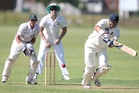 City's Joey Yovich in their premier cricket match against Onerahi Central. Photo/John Stone.