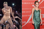 Miley Cyrus (l-r) Worst dressed at MTV VMAs and best in a Marc Jacobs gown at FGI's 30th Annual Night Of Stars Gala. Photo / Getty