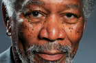 British artist Kyle Lambert has created incredibly realistic finger painted picture of Morgan Freeman. Photo / YouTube