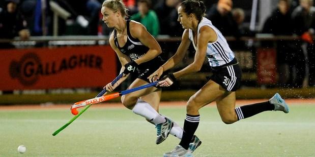 Anita Punt scored for New Zealand. Photo /  Christine Cornege.