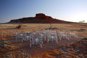 The sensitive Murchison Widefield Array radio telescope in Australia. Photo / Murchison Widefield Array