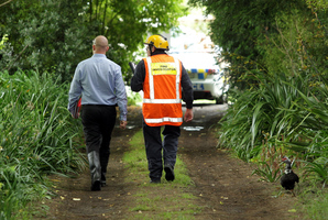Fire investigators are working to discover how a person died in a tent fire near Marton. Photo / Stuart Munro