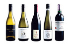 Man O' War Valhalla Chardonnay; reywacke Wild Sauvignon Blanc; Schubert Marion's Pinot Noir; Framingham F-Series Old Vine Riesling; Chateau La Prade Bordeaux Cotes de Francs. Photo / Supplied.
