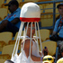 A badminton theme for this fan at the Hertz Sevens rugby tournament at Westpac Stadium in Wellington. Photo / Mark Mitchell