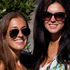 Kendall Waters (L) and Rachael Robinson, both from Los Angeles, pictured during Laneway Festival. Photo / Sarah Ivey