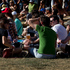 Festival goers in the sun during Laneway Festival. Photo / Sarah Ivey